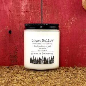 Apple, Maple, and Bourbon Scented Soy Candle