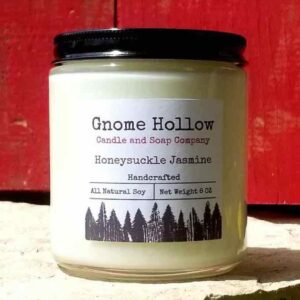 Honeysuckle Jasmine Scented Soy Candle