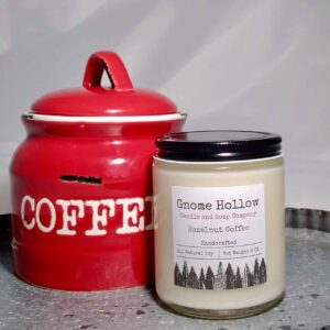 Hazelnut Coffee Scented Soy Candle