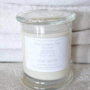 Vintage Grain Sack Scented Soy Candle 12oz