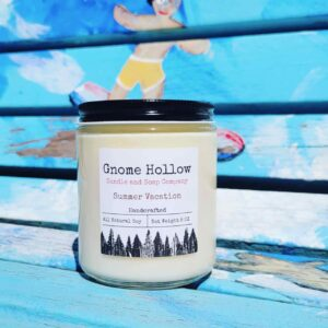 Summer Vacation Scented Soy Candle