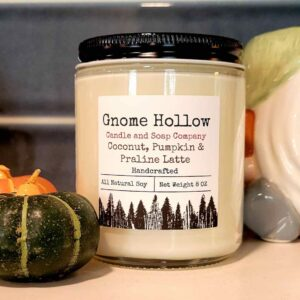 Coconut, Pumpkin, Praline Latte Scented Soy Candle